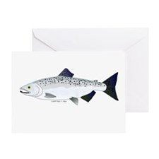 Chinook King Salmon f Greeting Card
