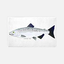 Chinook King Salmon f 3'x5' Area Rug