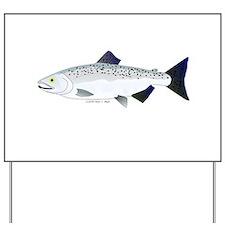 Chinook King Salmon f Yard Sign