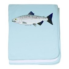 Chinook King Salmon Sea c baby blanket