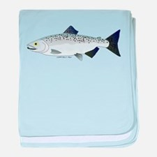 Chinook King Salmon Sea c baby blanket