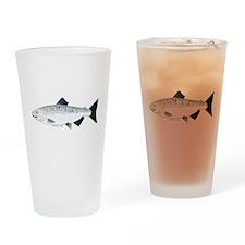 Chinook King Salmon Sea c Drinking Glass