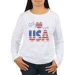 God Bless the USA Women's Long Sleeve T-Shirt