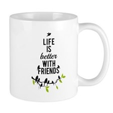 Life is better with friends, with birds on tree Mu