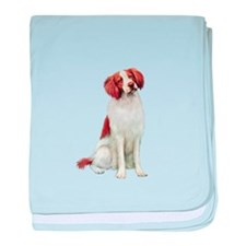 Brittany Spaniel #1 baby blanket