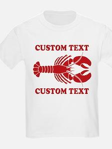 CUSTOM TEXT Lobster T-Shirt