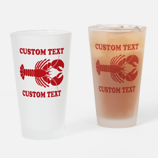 CUSTOM TEXT Lobster Drinking Glass