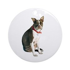 Boston Terrier (brn) Ornament (Round)
