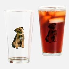 Border Terrier #1 Drinking Glass