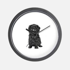 Affenpinscher (blk) Wall Clock