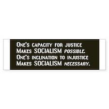 Socialism Bumper Car Sticker