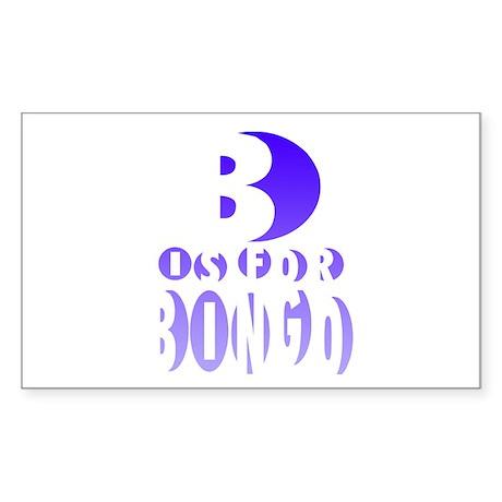 B is for Bingo Rectangle Sticker