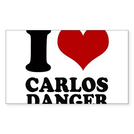 I heart Carlos Danger Sticker