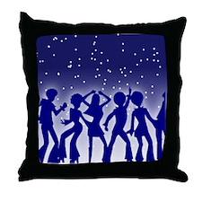 DISCO DANCERS Throw Pillow