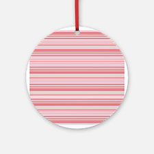 Retro Pink Pinstripes Ornament (Round)
