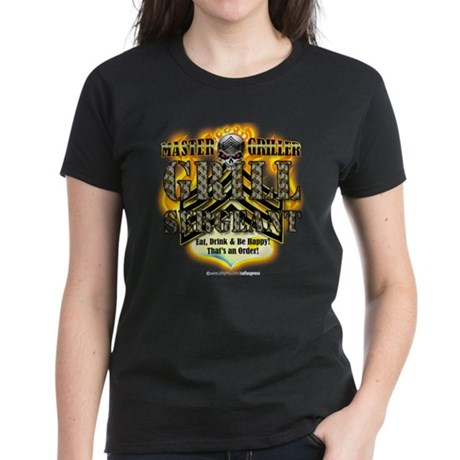 """Grill Sergeant 2!"" Women's Dark T-Shirt"