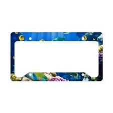 Caribbean paradise, in the se License Plate Holder