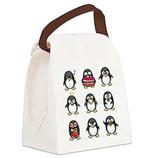 I>Heart Penguins Canvas Lunch Bag