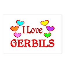 I Love Gerbils Postcards (Package of 8)