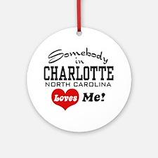 Charlotte North Carolina Ornament (Round)