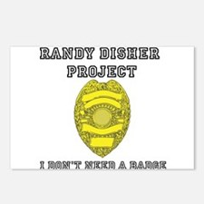 Randy Disher Project: I dont need a badge Postcard