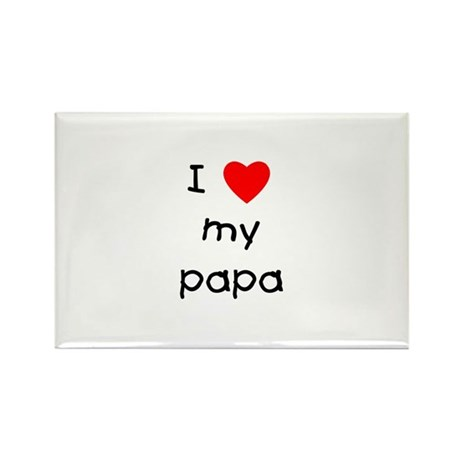 I love my papa Rectangle Magnet