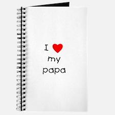 I love my papa Journal