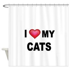 I LOVE MY CATS Shower Curtain
