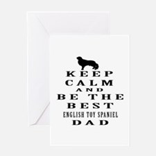 Keep Calm English Toy Spaniel Designs Greeting Car