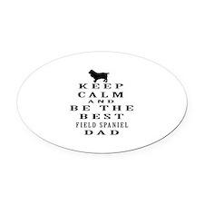 Keep Calm Field Spaniel Designs Oval Car Magnet
