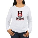 H is for Horror Women's Long Sleeve T-Shirt