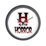 H is for Horror Wall Clock