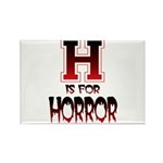 H is for Horror Rectangle Magnet (10 pack)
