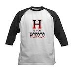 H is for Horror Kids Baseball Jersey