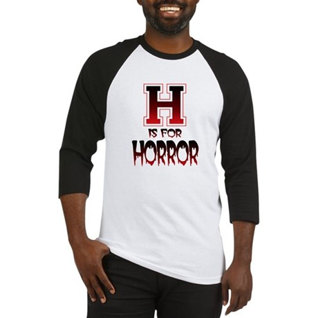 H is for Horror Baseball Jersey