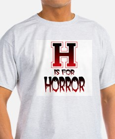 H is for Horror Ash Grey T-Shirt