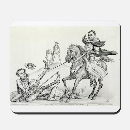 Fraud against truth - 1872 Mousepad