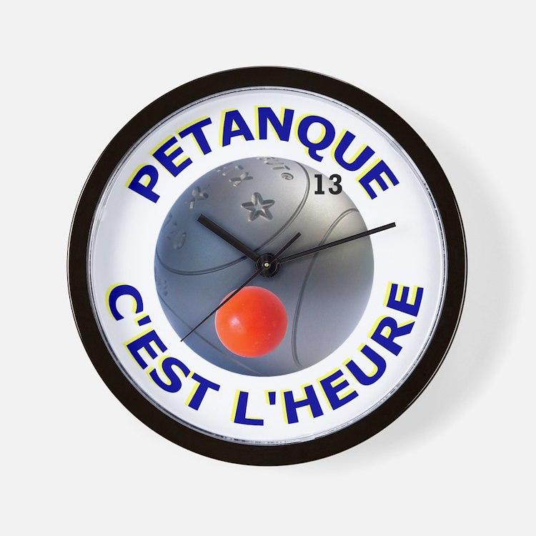 Petanque Wall Clock