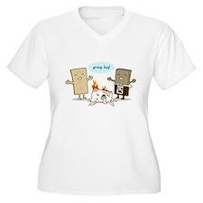 Flaming Marshmallow - Group Hug! Plus Size T-Shirt