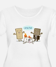Flaming Marshmallow - Group Hug! Plus Size T-Shirt