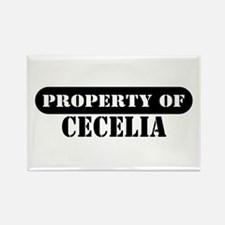 Property of Cecelia Rectangle Magnet
