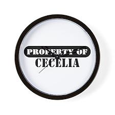 Property of Cecelia Wall Clock