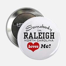 "Raleigh North Carolina 2.25"" Button"