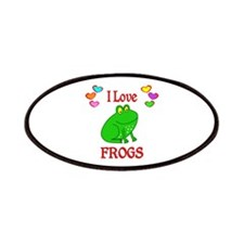I Love Frogs Patches