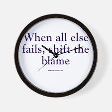 Shift The Blame Wall Clock