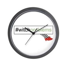 Witch Problems Wall Clock