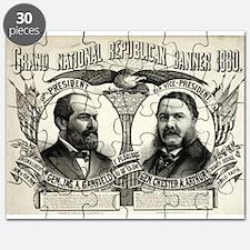 Grand national Republican banner 1880 - 1880 Puzzl