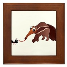 Anteater Meets His Lunch Framed Tile
