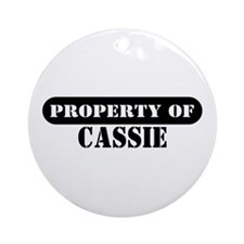 Property of Cassie Ornament (Round)