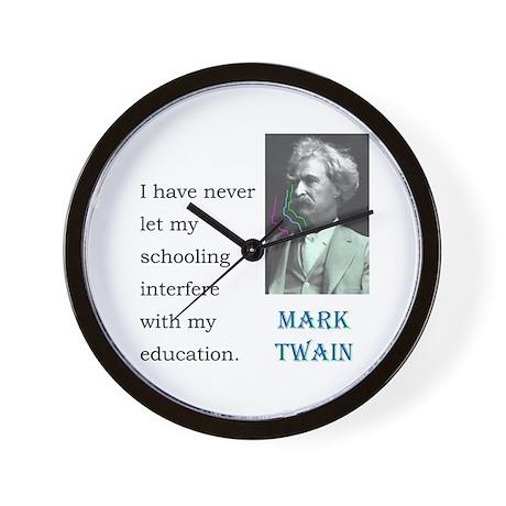 Twain Schooling: Wall Clock